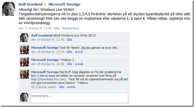 Microsoft Sverige Facebook